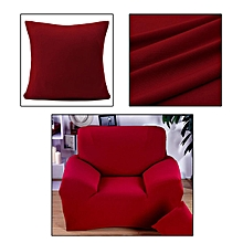 Pure Color Removable Elastic Sofa Slipcover Lounge Couch Cover For 1 Seater