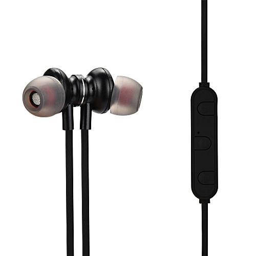 Hiamok_Bluetooth 4.1 Headset Wireless Headphones Stereo Sport Headset With Mic BK