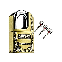 Secure Mindy Padlock Size - Large 60mm- Goldish Brown- Made of Steel