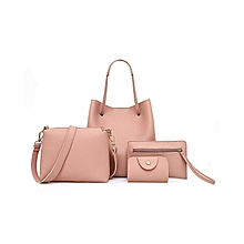 4Pcs Women Pattern Leather Handbag+Crossbody Bag+Messenger Bag+Card Package