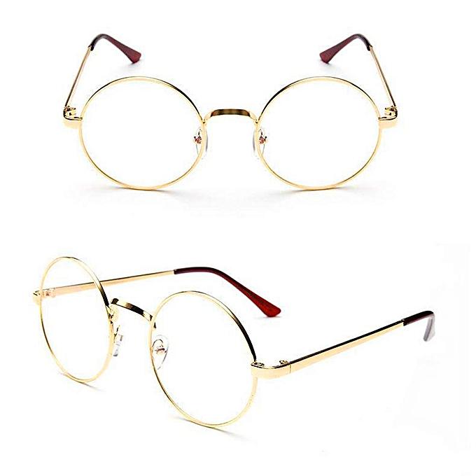 Round Frame Clear Lens Glasses Eyeglasses 5Colors Vintage Unisex UV400