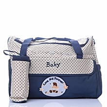 Stylish Diaper Bag with a Changing Mat and a Bottle Bag