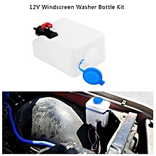 Universal Car Windshield Washer Pump Bottle Kit Cleaning Tools 12V