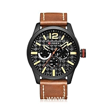 Top Brand Luxury Leather Quartz Watch Men Wristwatch
