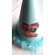 Blue Feathered Party Hat - Lighning Mc Queen
