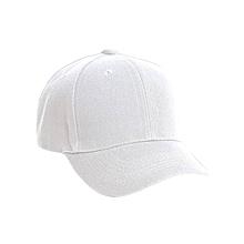 White Baseball Men's Women's Cap