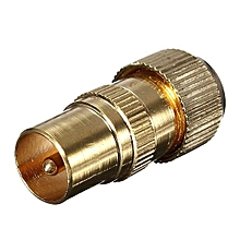 Gold Plated Male TV Aerial Freeview Box Connector RF Coaxial Cable Plug Adapter