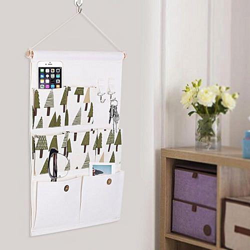 807f14f0f757 Minxin Multi-layer 7 Pockets Wall Door Closet Hanging Storage Bag With Rope  Shelf Organizer Decor Tree