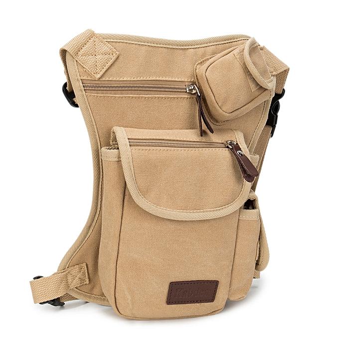 guoaivo Multifunction Outdoor Cotton Sport Leg Bag Canvas Waist Bag Money Belt  Bag