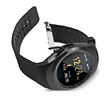 Y1 Sporty Smart Phone With Sim toolkit Touchscreen Watch - Black