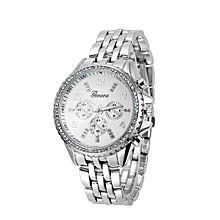 Classic Luxury Stainless Steel Quartz Analog Wrist Watch SL