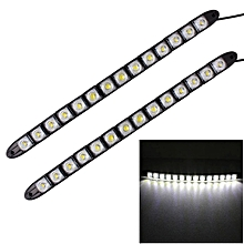 2 PCS  7W 14 LED SMD 5050 Flexible Snake LED Car Daytime Running Lights, DC 12V
