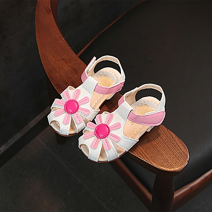 90c9e90cb689 Baby Girl Sandals Sunflower Sole Children Princess Sandals Shoes Beach -  White Size 23