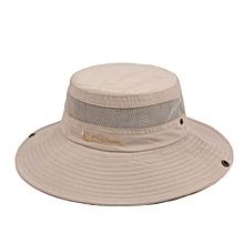GuanLide new fashion adjustable big ebony hat summer outdoor sun visor cap