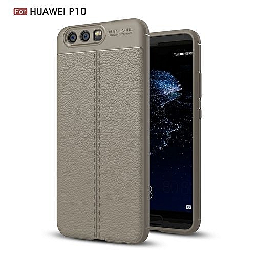 timeless design 69f6b 07471 Huawei P10 Silicone Case, Litchi Pattern TPU Anti-knock Phone Back Cover  For Huawei P10 - Gray.