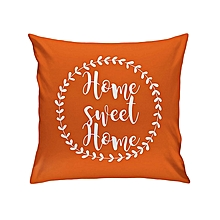 Orange Throw Pillow-Home Sweet Home
