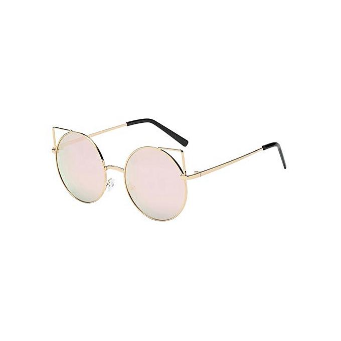 5d67cbcb243 Wenrenmok Store Men Womens Unisex Fashio Chic Cat Eyes Shades Acetate Frame  UV Glasses Sunglass-