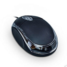 Mini Usb Wired Computer Mouse -Black