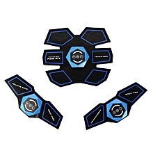 Muscle Stimulator ABS Fit Training Gear Abdominal Body Home Exercise Fitness set #1X Abdomen Pad 2X Body Toning Pad