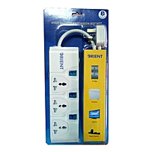 3 Way UK Socket BS & Surge Protector