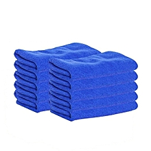 AfricanmallDN store  10Pcs New Cloths Cleaning Duster Microfiber Car Wash Towel Auto Care Detailing-Blue