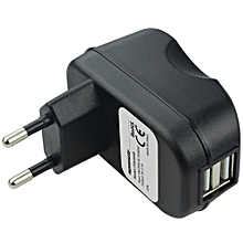 SURGE-EU2: black Dual USB Home Charger Adapter + FREE Micro-USB Cable