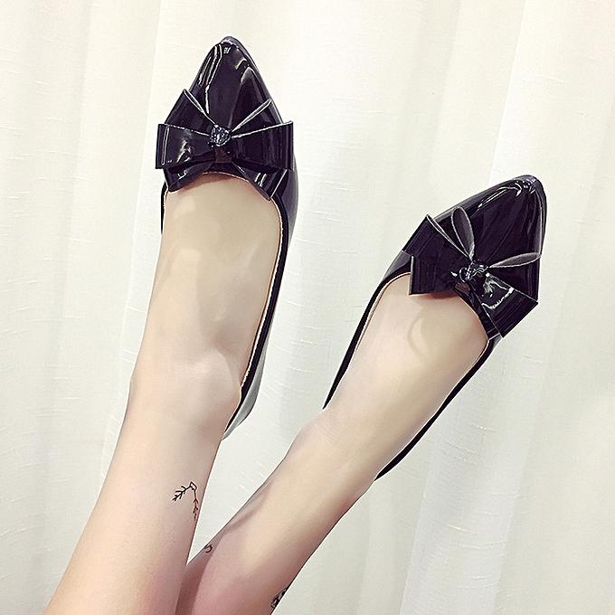 3e3cc26c0 Fashion Bow Pointed Toe Women Flats Woman Flat Shoes Ballet Flats Ladies  BK/35-