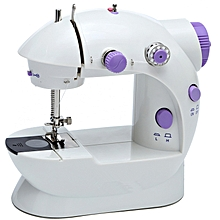 Mini Household Purple Electric Sewing Machine 2 Speed Adjustment with Light Foot Pedal AC100-240V