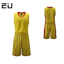 Customized Name Number Brand Men's Basketball Training Sports Jersey Set-Yellow(1006)