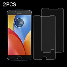 2 PCS For Motorola Moto E4 Plus 0.3mm 9H Surface Hardness 2.5D Explosion-proof Tempered Glass Non-full Screen Film