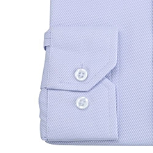 Men's Solid Color Twill Long Sleeve Business Formal Shirts Clothing Blouse PP/37- Purple  37
