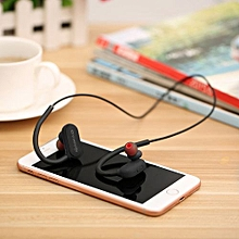 Olivaren Bluetooth 4.2 Wireless Headphone Stereo Sports Earbuds In-Ear Headset BK -Black