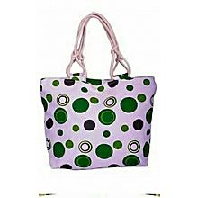 Summer Handbag - Green Dotted