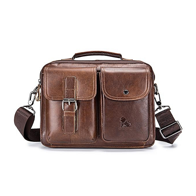 5e4b1b93b2 Mens Leather Messenger Bag Retro Laptop Bag Business Briefcase Shoulder Bag