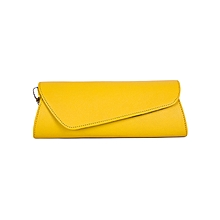 Yellow Ladies Clutch Purse