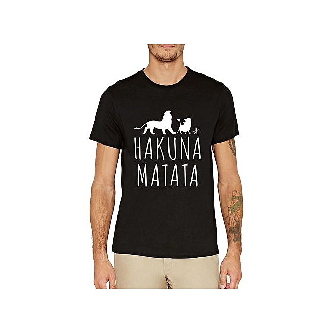 f93b9ad58bf1 HAKUNA MATATA Funny Men's Shirt Pumba The Lion King Short Sleeve Disney T- Shirt
