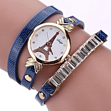 Technologg Watch  Fashion Women's Ladies Faux Leather Rhinestone Analog Quartz Wrist Watches-As Show