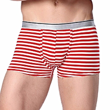 Hiamok_Men's Boxer Soft Briefs Striped Underpants Knickers Shorts Sexy Underwear
