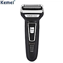 KM - 6558 Reciprocating Three Blades Electric Shaver Travel Use Safe Razor for Men
