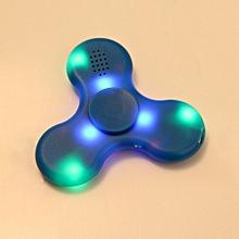 Fidget Hand Spinner LED Light Bluetooth Speaker Music Focus Toy - Blue