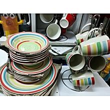 Dinner Set 24 pcs - Multi-coloured