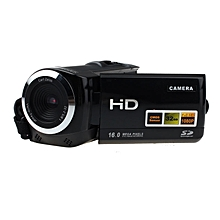 Full HD Camera 1080P 16MP Video Camera LCD 8X Zoom Camcorders Recorder-Black