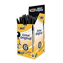 Bic Biro - Medium - 50 Pieces - Black