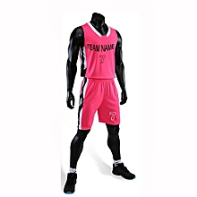 Best Sale Customized Casual Men's Basketball Team Sport Jersey Uniform-Pink(3035)