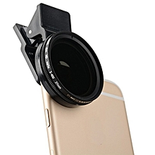 Zomei Adjustable 37mm ND 2-400 Phone Camera Filter Lens for iPhone Samsung HTC Huawei Android IOS