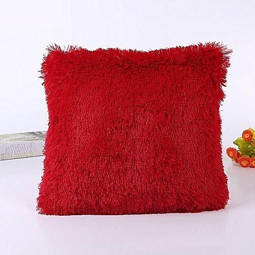 New Fluffy Pillow   Throw Pillows   Sofa Pillows   Seat Pillows 18   x 18    - Red 9c1d6c02d6