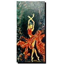 Figuratively wall painting  - 35cm by 79cm - multicolored