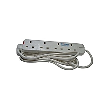 For Ironing And Water Heating 4-Way Extension Cable - White