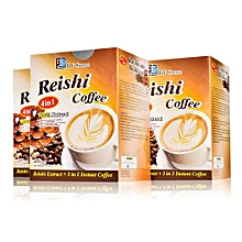 4 in 1 Reishi Coffee with Ganoderma Lucidum Extract-20 Sachets x 18.2g. An instant coffee with No Dairy Creamer, Sweetener