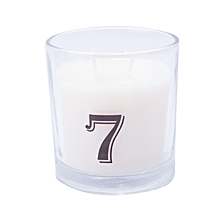"""Number """"7"""" Alphabet Scented candle - White"""